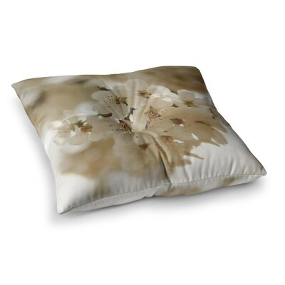 Flowering Pear Petals by Angie Turner Floor Pillow Size: 23 x 23