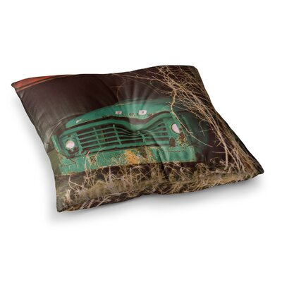 Ford Car by Angie Turner Floor Pillow Size: 26 x 26