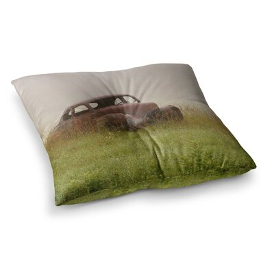 Forgotten Car Grass by Angie Turner Floor Pillow Size: 26 x 26