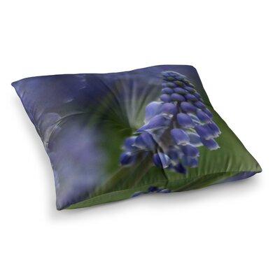 Grape Hyacinth by Angie Turner Floor Pillow Size: 26 x 26