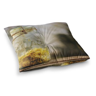 Jar of Sunshine Country by Angie Turner Floor Pillow Size: 26 x 26