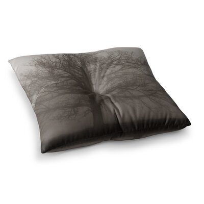 Lonely Tree Dark Fog by Angie Turner Floor Pillow Size: 26 x 26