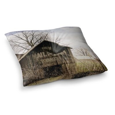 Mail Pouch Barn Wooden House by Angie Turner Floor Pillow Size: 26 x 26
