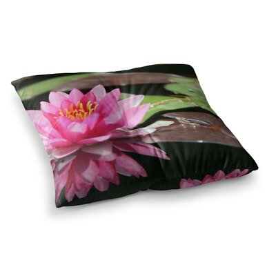 Water Lily by Angie Turner Floor Pillow Size: 26 x 26