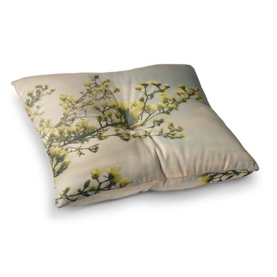 Magnolias Photography by Angie Turner Floor Pillow Size: 26 x 26