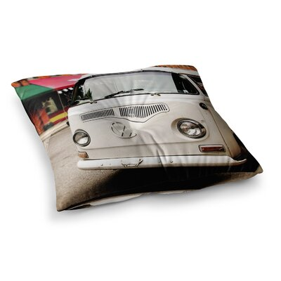 VW Bus Vintage by Angie Turner Floor Pillow Size: 23 x 23