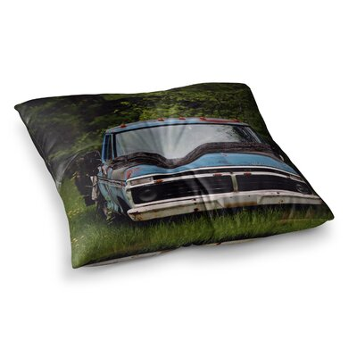 Old Ford Truck Digital by Angie Turner Floor Pillow Size: 23 x 23