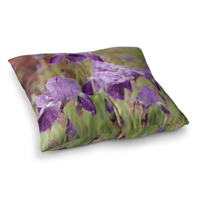 Irises Floral by Angie Turner Floor Pillow Size: 26 x 26