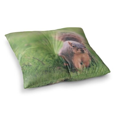 Squirrel Animals by Angie Turner Floor Pillow Size: 26 x 26
