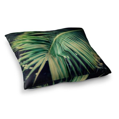 Palm Frond Nature by Angie Turner Floor Pillow Size: 26 x 26