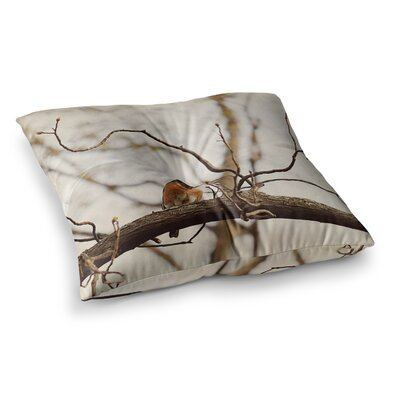 Spring Robin by Angie Turner Floor Pillow Size: 23 x 23