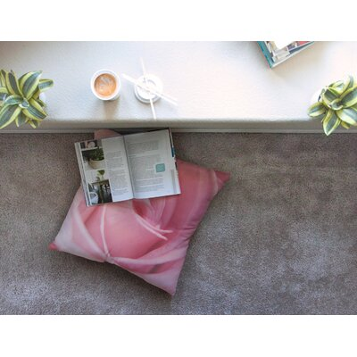Soft Rose by Angie Turner Floor Pillow Size: 26 x 26