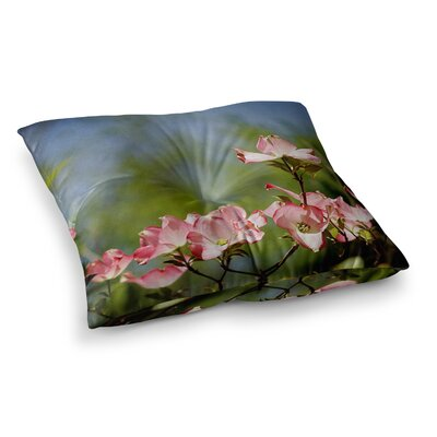 Dogwood Digital Floral by Angie Turner Floor Pillow Size: 26 x 26