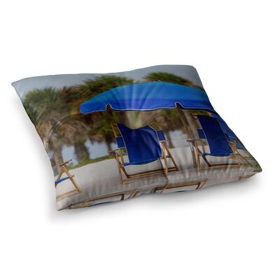 Ready to Relax Digital Photography by Angie Turner Floor Pillow Size: 26 x 26