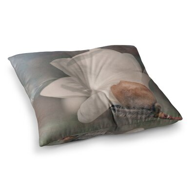 Magnolia Digital Floral by Angie Turner Floor Pillow Size: 26 x 26