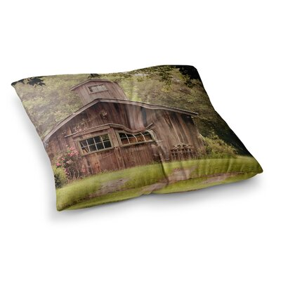 Shabby Elegance Barn Nature Photography by Angie Turner Floor Pillow Size: 23 x 23
