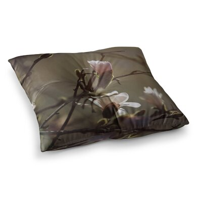 Magnolia Blooms by Angie Turner Floor Pillow Size: 23 x 23