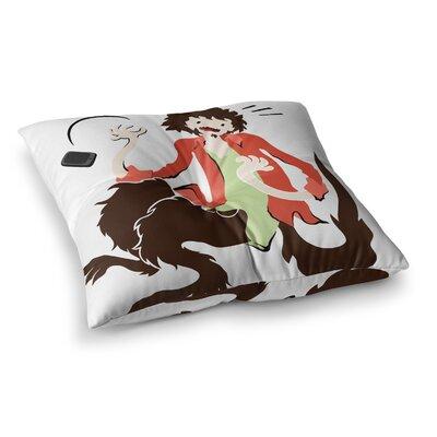 Werwolf by Anya Volk Floor Pillow Size: 26 x 26