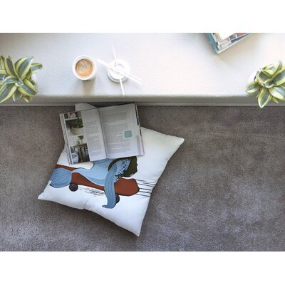 Fish Skateborder by Anya Volk Floor Pillow Size: 26