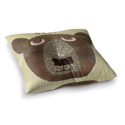 Bear by Bri Buckley Floor Pillow Size: 23 x 23