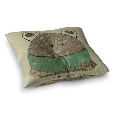 Frog by Bri Buckley Floor Pillow Size: 26 x 26