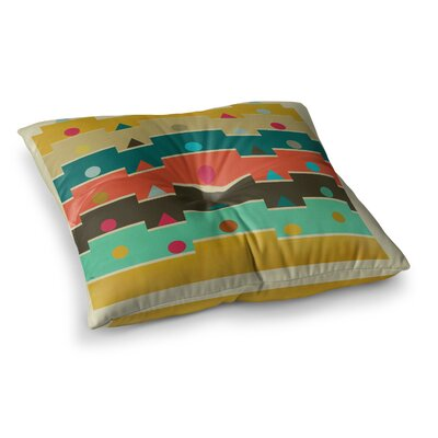 Modern Graphics Geometry by Bri Buckley Floor Pillow Size: 26 x 26