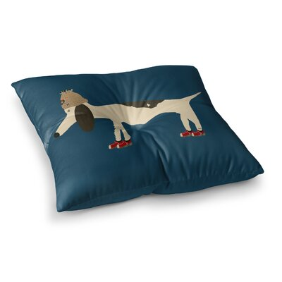 Chien by Bri Buckley Floor Pillow Size: 26 x 26