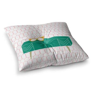 Credenza Madness by Bridgette Burton Floor Pillow Size: 23 x 23