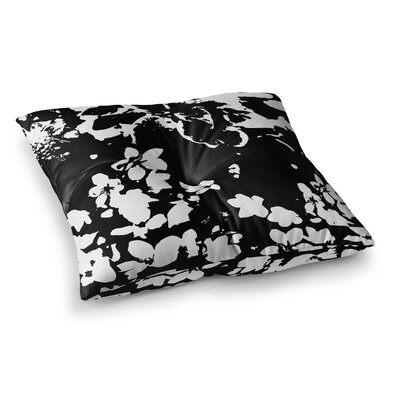 Helena Floral by Love Midge Floor Pillow Size: 23 x 23, Color: Black