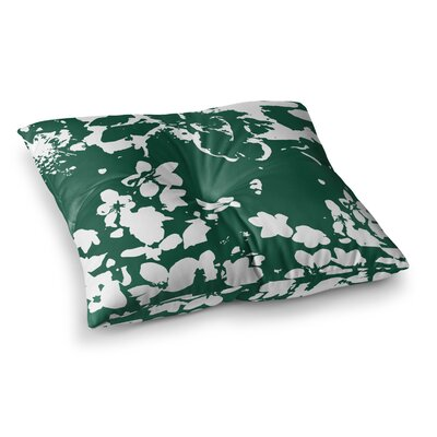 Helena Floral by Love Midge Floor Pillow Size: 23 x 23, Color: Green/White
