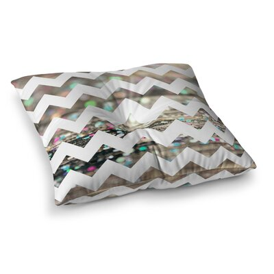 After Party Chevron by Beth Engel Floor Pillow Size: 23 x 23