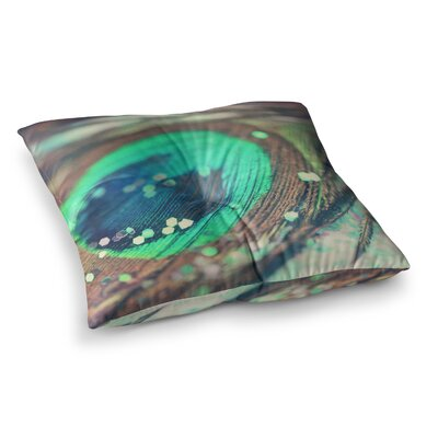 Peacocks Dream by Beth Engel Floor Pillow Size: 23 x 23