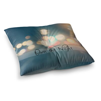 Own the Night by Beth Engel Floor Pillow Size: 26 x 26