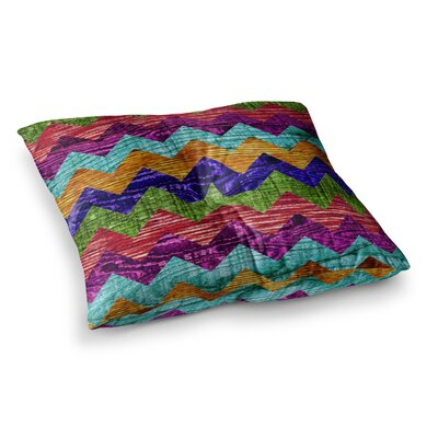 Natural Flow Chevron by Beth Engel Floor Pillow Size: 26 x 26
