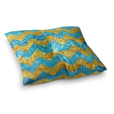 Blueberry Twist Chevron by Beth Engel Floor Pillow Size: 23 x 23