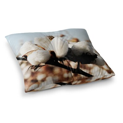 Southern Snow Cotton by Beth Engel Floor Pillow Size: 26 x 26