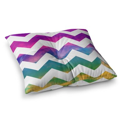 Lucky Chevron by Beth Engel Floor Pillow Size: 23 x 23