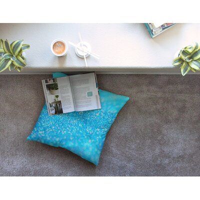 Mermaid Sparkles by Beth Engel Floor Pillow Size: 23 x 23