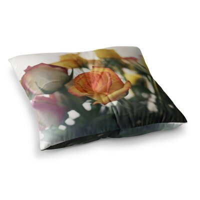 Sweet Reminder Flowers by Beth Engel Floor Pillow Size: 23 x 23
