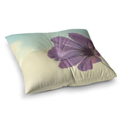 Torn But Never Broken Flower by Beth Engel Floor Pillow Size: 23 x 23