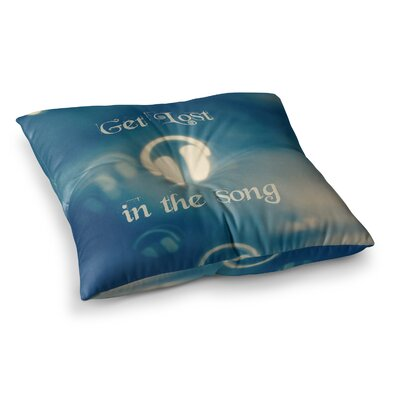 Get Lost in the Song Headphones by Beth Engel Floor Pillow Size: 23 x 23