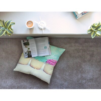 Life is as Sweet as Cupcakes by Beth Engel Floor Pillow Size: 26 x 26