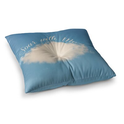 Soar with Me Cloud by Beth Engel Floor Pillow Size: 23 x 23