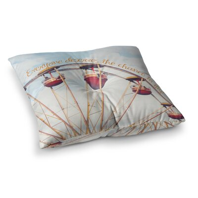 The Chance to Fly Ferris Wheel by Beth Engel Floor Pillow Size: 26 x 26