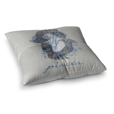 Pisces by Belinda Gillies Floor Pillow Size: 26 x 26