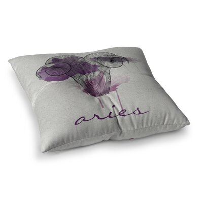 Aries by Belinda Gillies Floor Pillow Size: 26 x 26