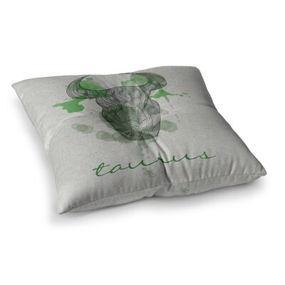 Taurus by Belinda Gillies Floor Pillow Size: 26 x 26