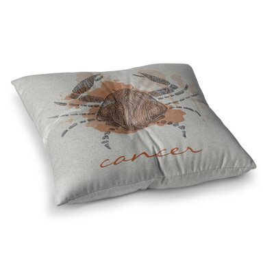 Cancer by Belinda Gillies Floor Pillow Size: 26 x 26