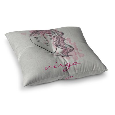 Virgo by Belinda Gillies Floor Pillow Size: 23 x 23