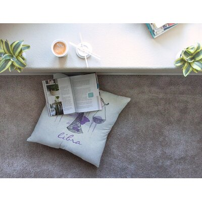 Libra by Belinda Gillies Floor Pillow Size: 26 x 26
